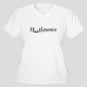 St. Maurice, Vintage Women's Plus Size V-Neck T-Sh