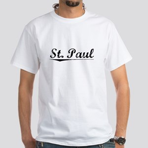 St. Paul, Vintage White T-Shirt
