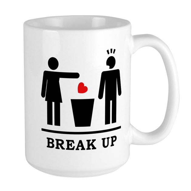 Broken Heart Man 2c Large Mug By Listing-store