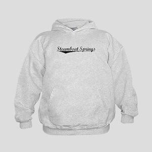 Steamboat Springs, Vintage Kids Hoodie