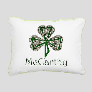 McCarthey Shamrock Rectangular Canvas Pillow