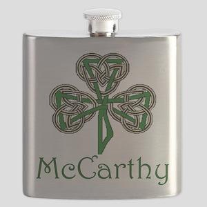 McCarthey Shamrock Flask