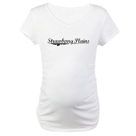 Strawberry Plains, Vintage Maternity T-Shirt