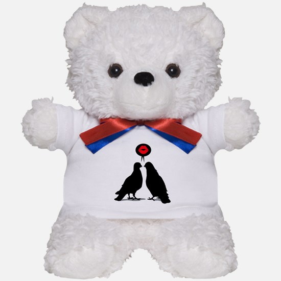 Love saying Doves - Two Valentine Birds Teddy Bear