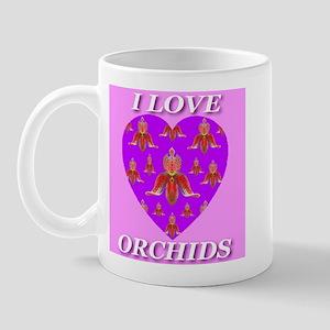 I Love Orchids Mug