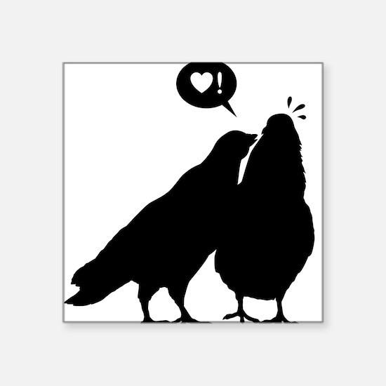 Love me now - Two Valentine Birds 2 Square Sticker