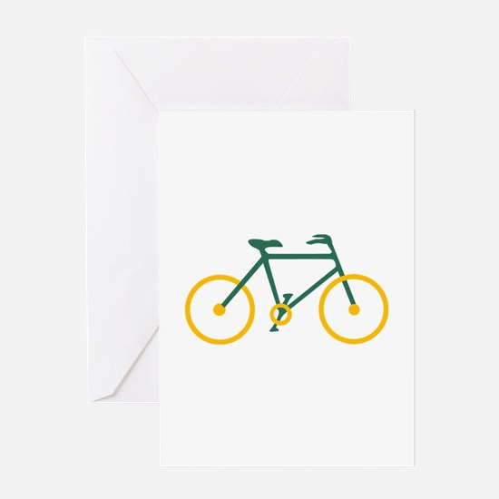 Green and Gold Cycling Greeting Card
