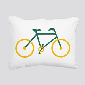 Green and Gold Cycling Rectangular Canvas Pillow