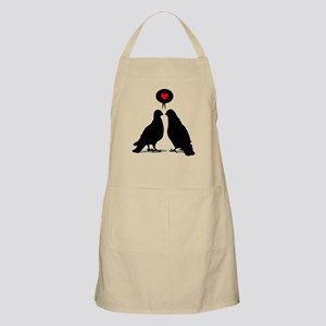 Love saying Doves - Two Valentine Birds Apron