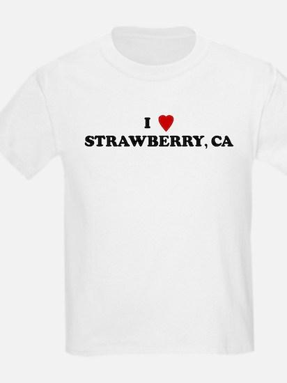 I Love STRAWBERRY Kids T-Shirt