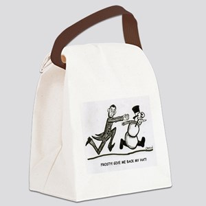 Abe and Frosty Canvas Lunch Bag