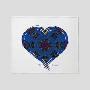 Big Heart Balance Throw Blanket