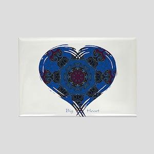 Big Heart Balance Rectangle Magnet