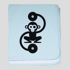 Monkey Music baby blanket