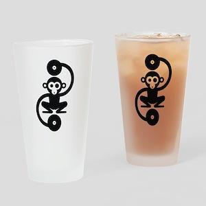 Monkey Music Drinking Glass