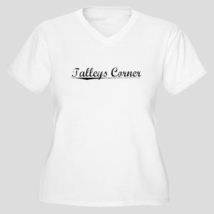 Talleys Corner, Vintage Women's Plus Size V-Neck T