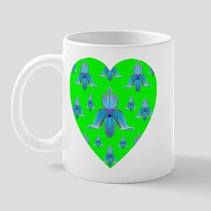 Deep Lime Orchid Heart Mug