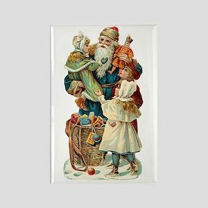 Victorian Santa Claus Rectangle Magnet