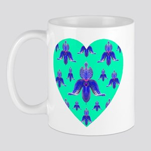Exotic Jade Orchid Heart Mug
