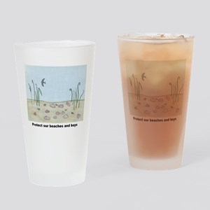 Protect our beaches and bays Drinking Glass