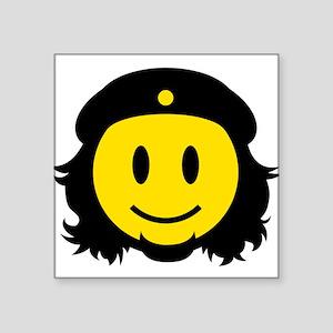 """Che Smiley Icon Square Sticker 3"""" x 3"""""""