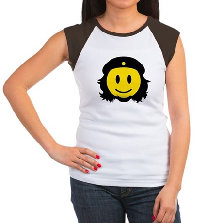 Che Smiley Icon Women's Cap Sleeve T-Shirt