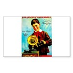 The Edison Phonograph Sticker (Rectangle 50 pk)