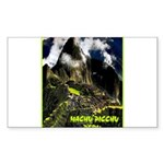 Machu Picchu Vintage Tra Sticker (Rectangle 50 pk)