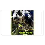 Machu Picchu Vintage Tra Sticker (Rectangle 50 pk)