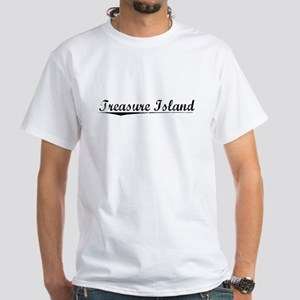 Treasure Island, Vintage White T-Shirt
