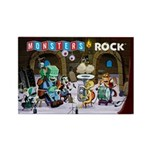 Monsters Rock Rectangle Magnet