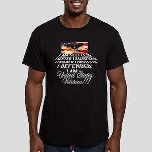 THE VETERAN!!!! Men's Fitted T-Shirt (dark)