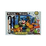 Trick or Treat Graphic Rectangle Magnet