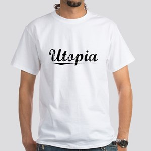 Utopia, Vintage White T-Shirt