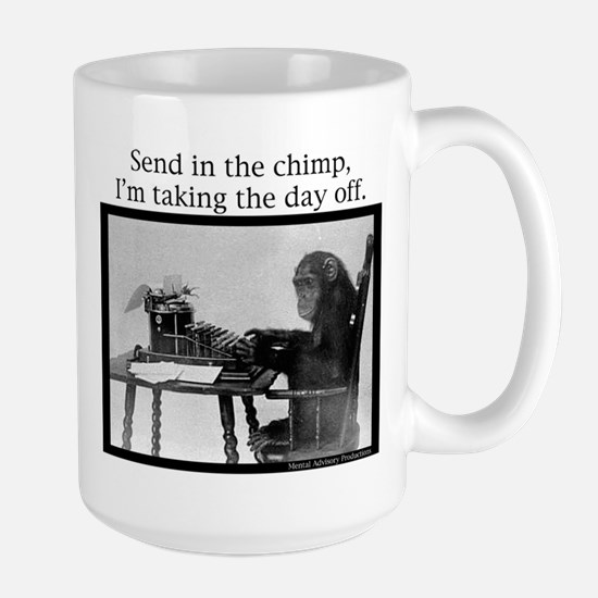 Office Chimp Large Mug