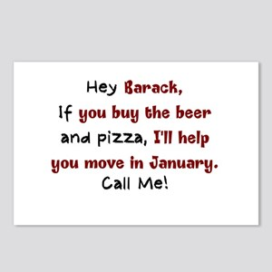 Obama Moving Day Postcards (Package of 8)