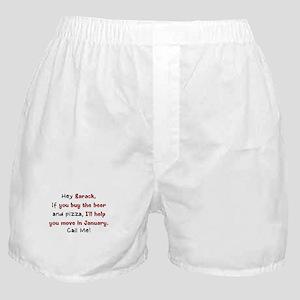 Obama Moving Day Boxer Shorts