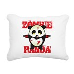 Zombie Panda Rectangular Canvas Pillow