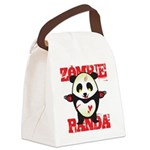 Zombie Panda Canvas Lunch Bag