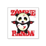 "Zombie Panda Square Sticker 3"" x 3"""