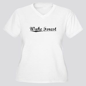 Wake Forest, Vintage Women's Plus Size V-Neck T-Sh