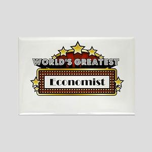 World's Greatest Economist Rectangle Magnet