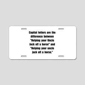 Capital Letters Jack Aluminum License Plate