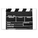Movie Film video clapper Sticker (Rectangle 50 pk)