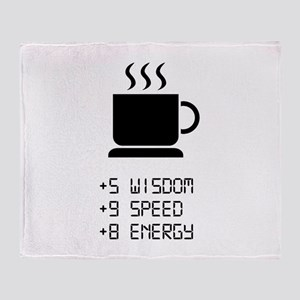 Coffee Power Up Throw Blanket