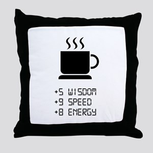 Coffee Power Up Throw Pillow