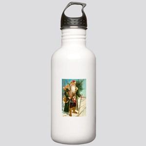 Victorian Santa Claus Stainless Water Bottle 1.0L