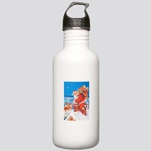 Santa Up On the Roofto Stainless Water Bottle 1.0L