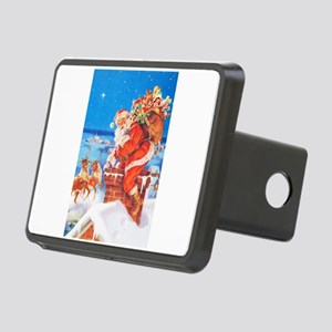 Santa Up On the Rooftop Rectangular Hitch Cover