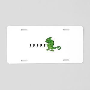 Comma Chameleon Aluminum License Plate